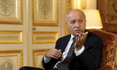 LAURENT FABIUS (PS), INTERVIEW
